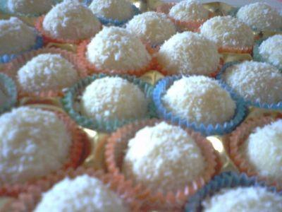 palline dolci di wafer
